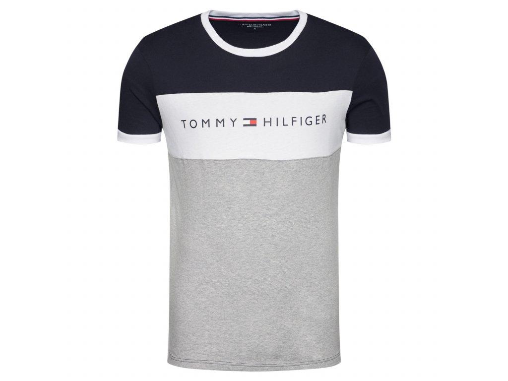 tommy hilfiger t shirt logo flag um0um01170 barevna regular fit 1