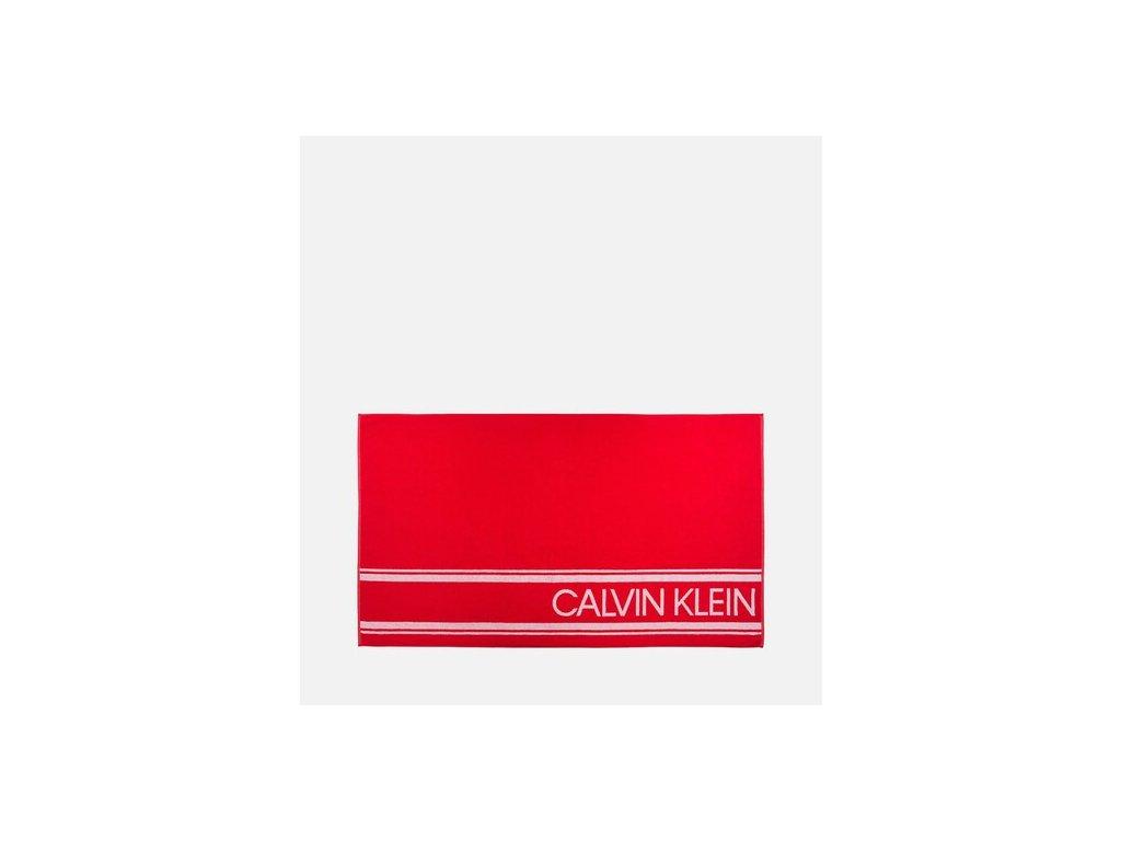 Calvin Klein Osuška/Ručník - unisex červený v limitované kolekci KW0KW00520_600 / CK BEACH TOWEL - INTENSE POWER