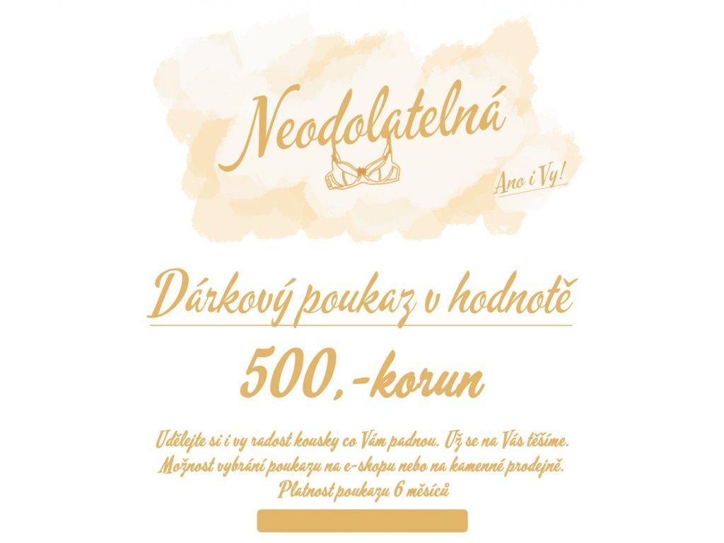 500 darkovy poukaz neodolatelna