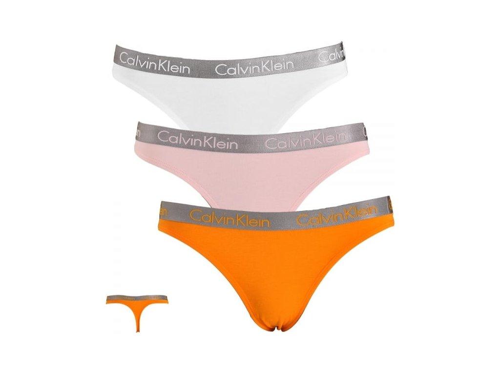 3pack dámských Tang Calvin Klein QD 3561 - UNX hlavní