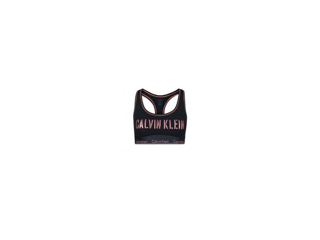 QF4057E-HLG Sportovní podprsenka Calvin Klein - Modern Cotton - Stencil Logo černá