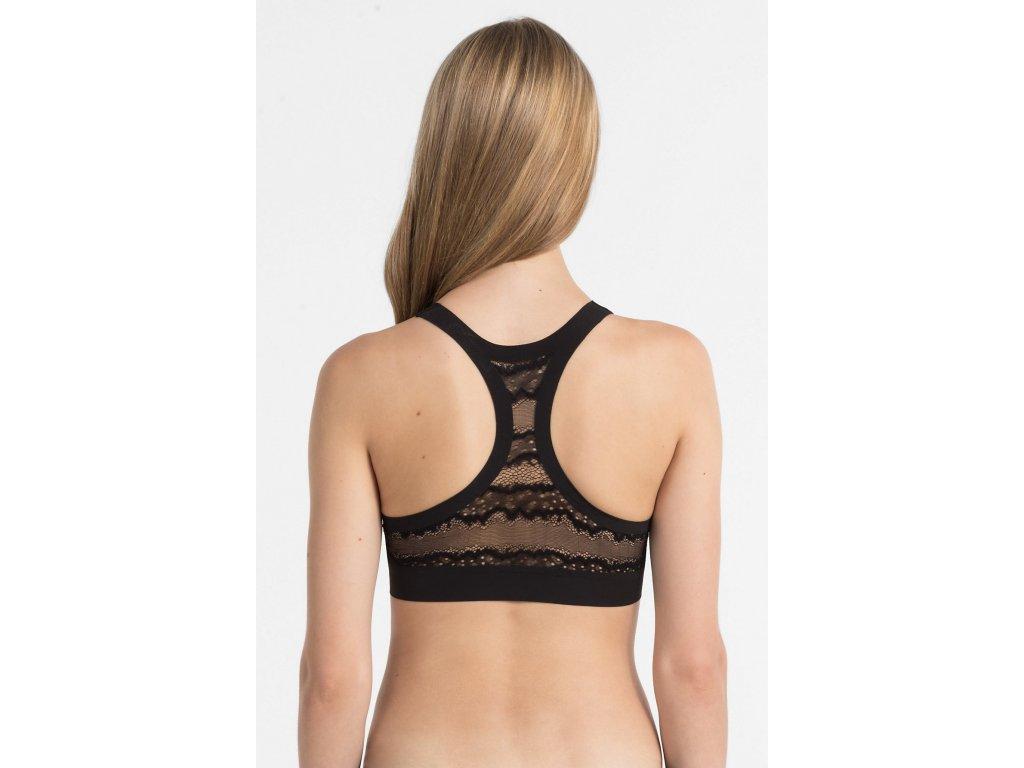 073c73aa86 ... QF1995E-001 Luxusní Braletka Black Label Calvin Klein černá nevystužená  podprsenka ...