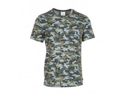 Pánské tričko Calvin Klein khaky maskáčové pánské tričko - Camo print