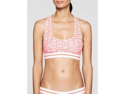 Calvin Klein Dámská podprsenka -QF1512  Modern cotton Bralette limitovaná kolekce lososová