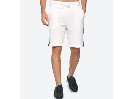 Tommy Hilfiger pánské kraťasy bílé nad kolena UM0UM00707_100 (TH SIDE LOGO DRAWSTRING SHORTS)