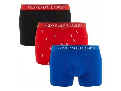 Pánský 3 balíček boxerek Polo Ralph Lauren kratší nohavička (klasický střih) limitovaná kolekce 714662050044 (PRL 3pack stretch cotton classic trunks 3PK-TRN)
