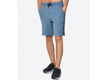 Tommy Hilfiger pánské kraťasy modré nad kolena UM0UM00707_450 (TH SIDE LOGO DRAWSTRING SHORTS)