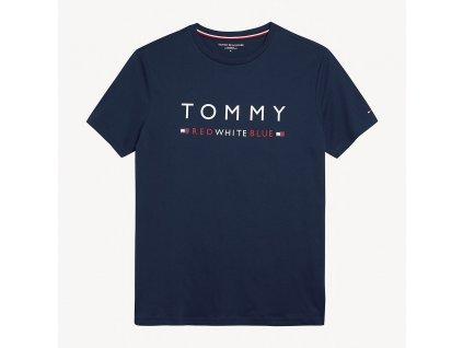 Pánské tričko Tommy Hilfiger z odlehčené bavlny - modré limitovaná kolekce UM0UM01167_416 (PURE COTTON LOGO T-SHIRT TH)