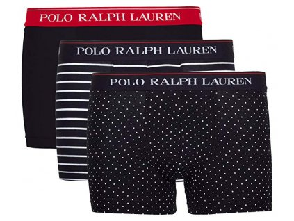 Polo Ralph Lauren Pánské 3 ks balení boxerek kratší nohavička (klasický střih) limitovaná kolekce 714662050039 (PRL 3pack stretch cotton classic trunks 3PK-TRN)