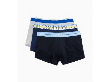 Calvin Klein Limitka s extra měkčenou gumou 3KS BALENÍ Boxerek střední délka nohaviček ( NB1753A GYT)