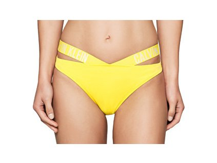 Plavky - Dámský spodek Calvin Klein žlutý KW0KW00074 701 (CK X Bikini Buttercup)