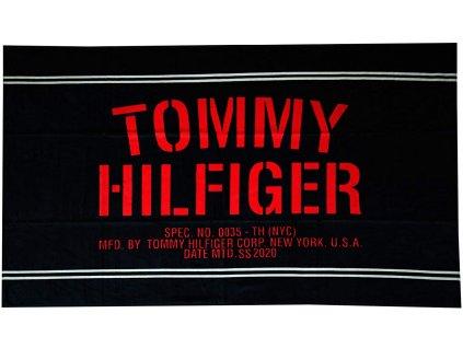 Tommy Hilfiger Osuška/Ručník - unisex červený - tango red v limitované kolekci čistá bavlna Pure Cotton - UU0UU00036_CUN TH NEW YORK PURE COTTON LOGO TOWEL