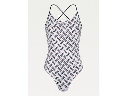 Tommy Hilfiger Dámské plavky jednodílné limitovaná kolekce (UW0UW02945 0K4 Cheeky one-piece)