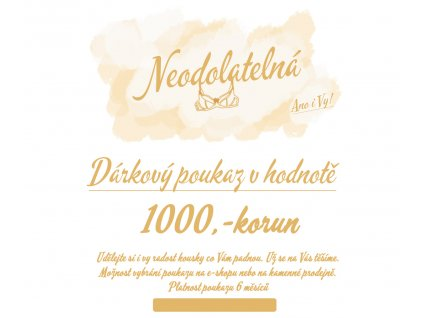 1000 darkovy poukaz neodolatelna