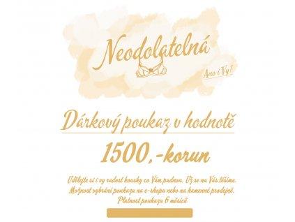1500 darkovy poukaz neodolatelna