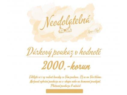 2000 darkovy poukaz neodolatelna