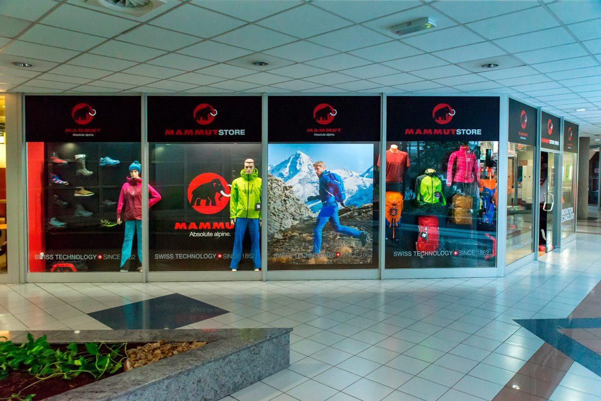 Kamenná prodejna Mammut Brno