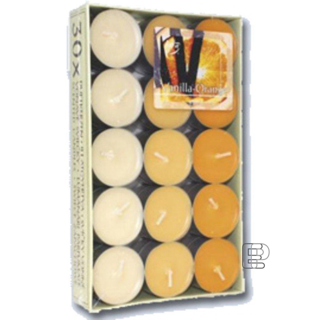 Svíčka čajová vonná pomeranč 30ks