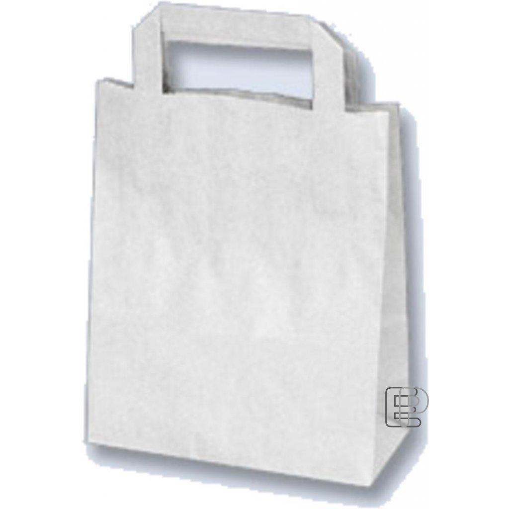 Taška papírová bílá 180x80x220 70622 balení 50ks