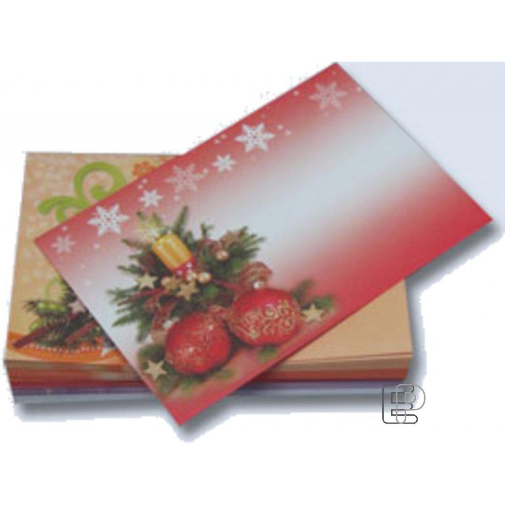 Vánoční obálka mix motivů 50ks 177x120