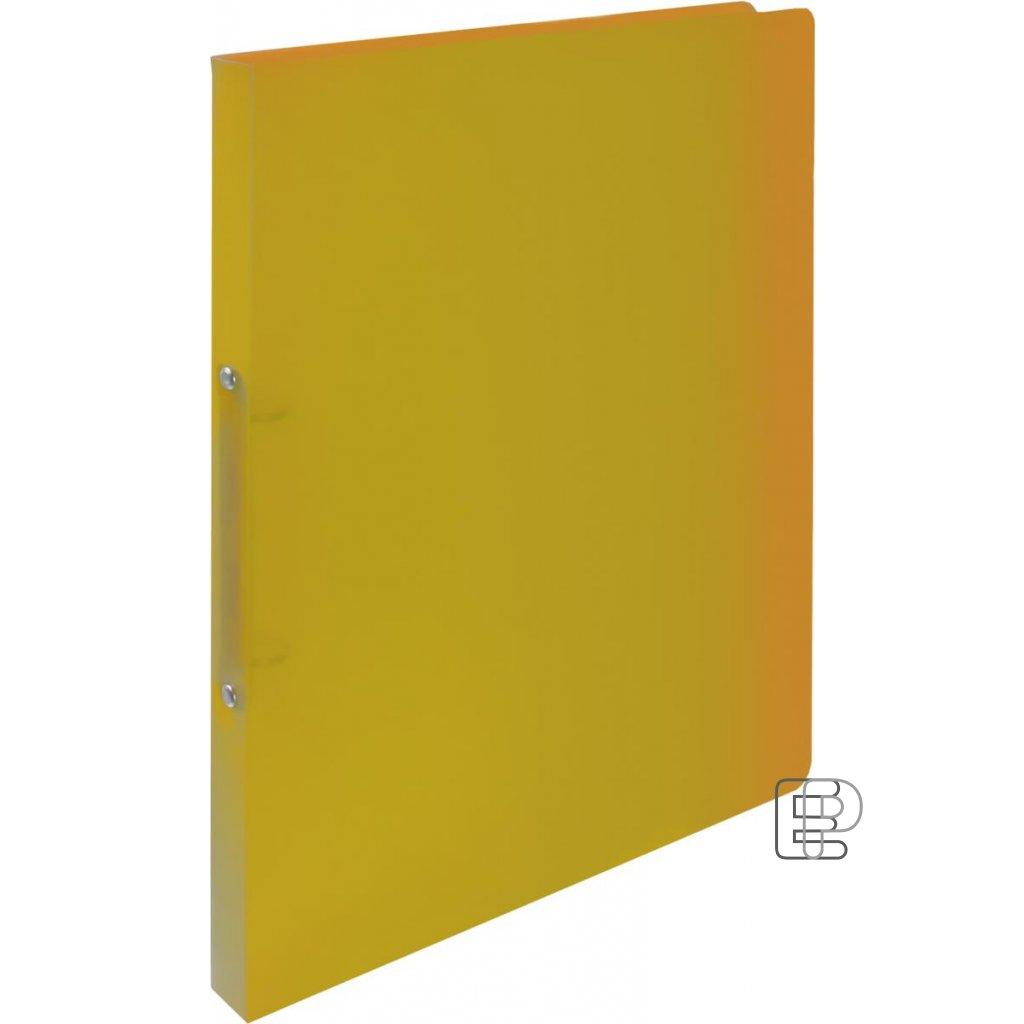 Pořadač 2-kr. Opalíne 20mm žlutý