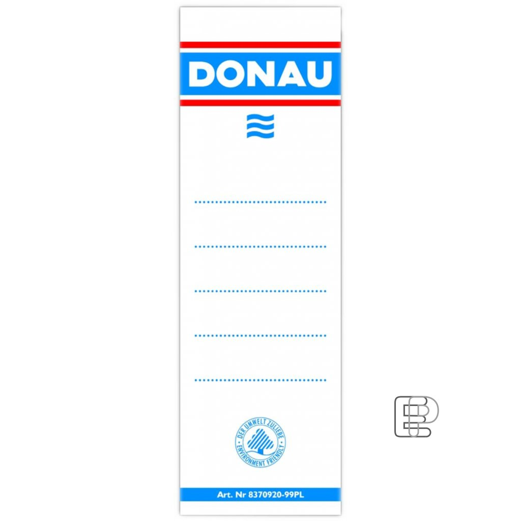 Štítky Donau na pořadače 7cm 20ks