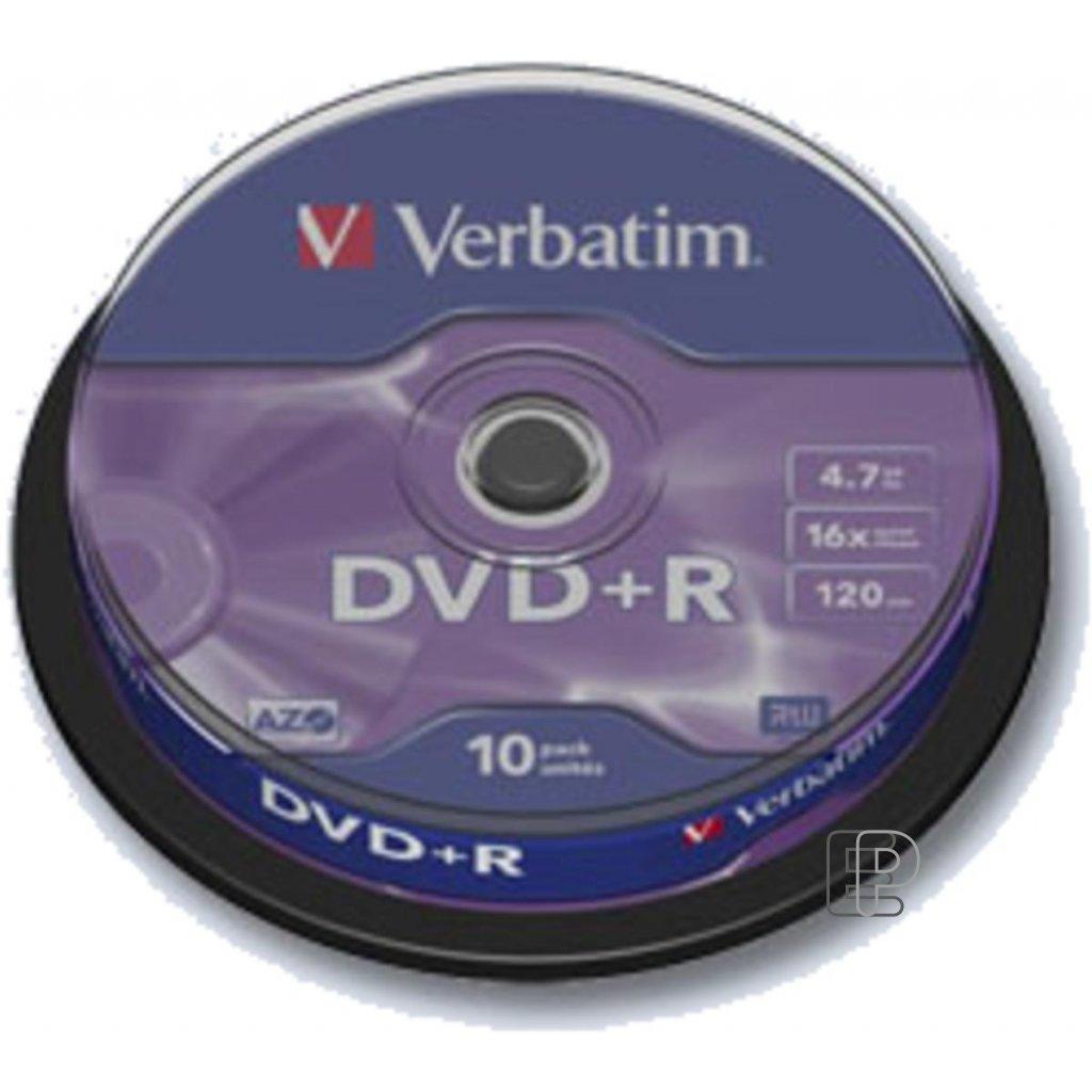 DVD+ R Verbatim 4. 7GB K 10ks