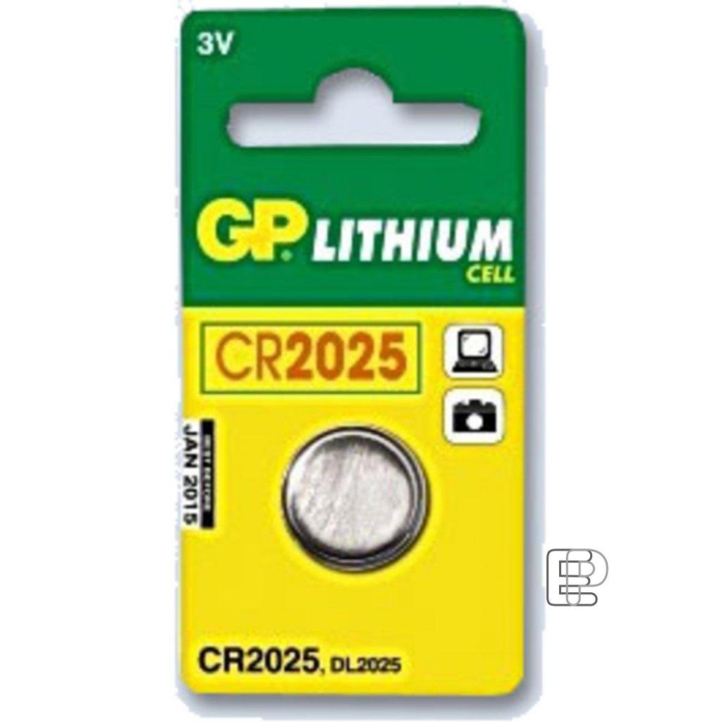 Baterie GP CR 2025 3V knoflík B1525