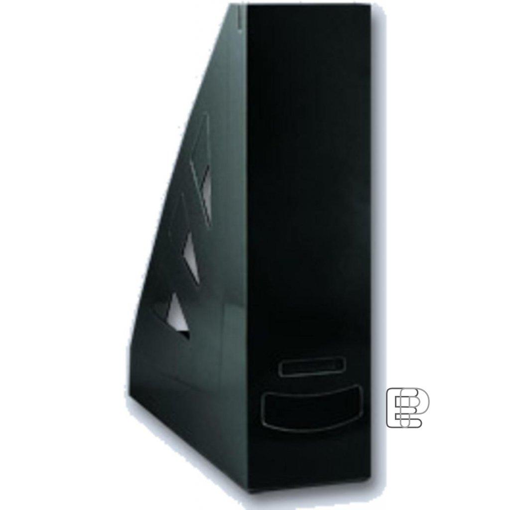 Stojan zkosený plastový černý 70mm A4