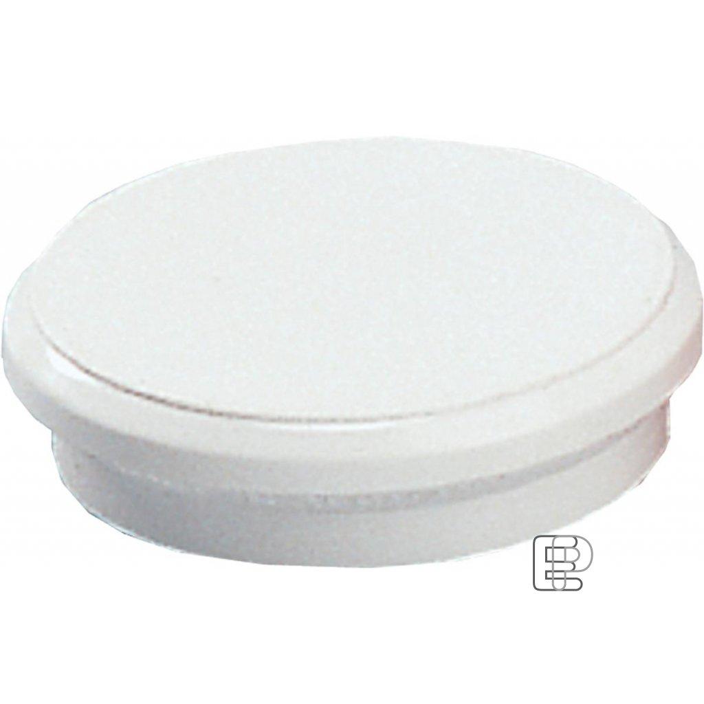 Magnet plastový 24mm bílý 95524