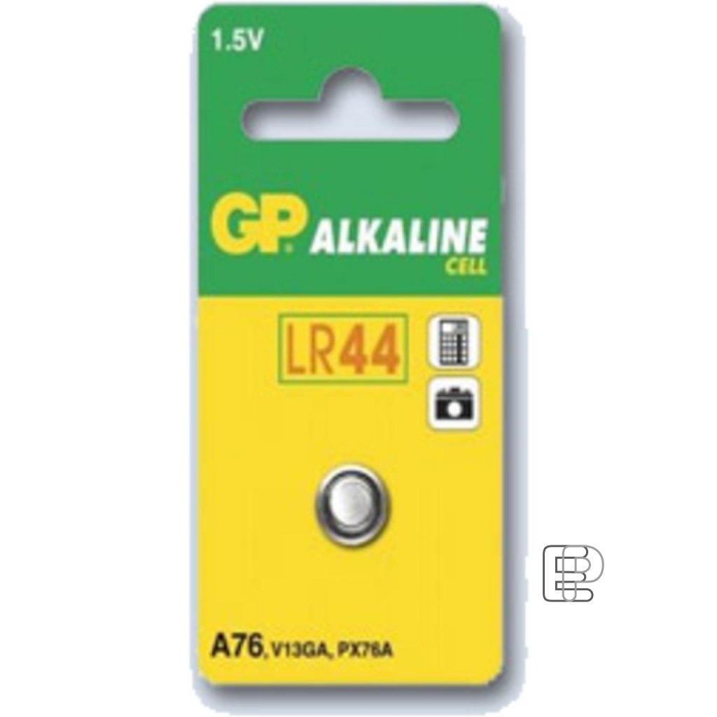 Baterie GP LR44 A76 1.5V knoflík B1376