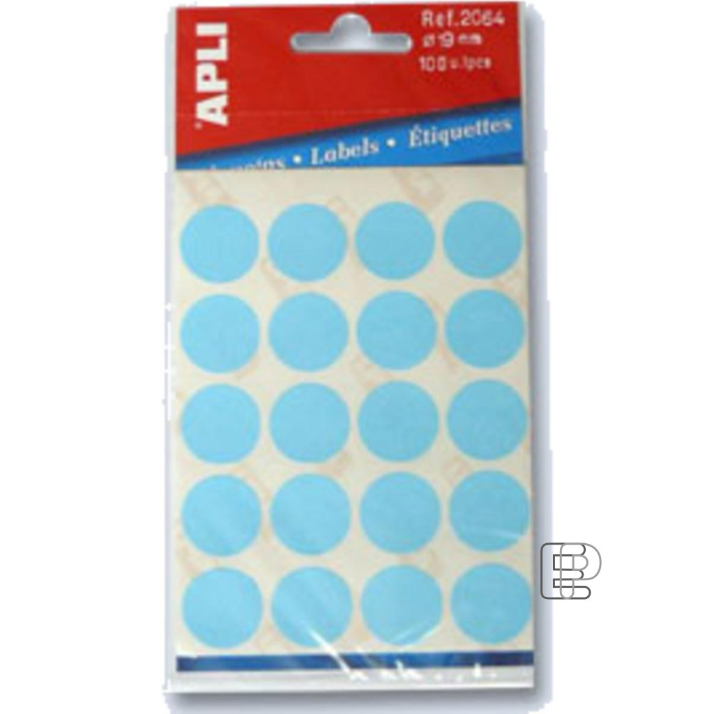 SLE Apli kulaté 19mm modré 100 etiket