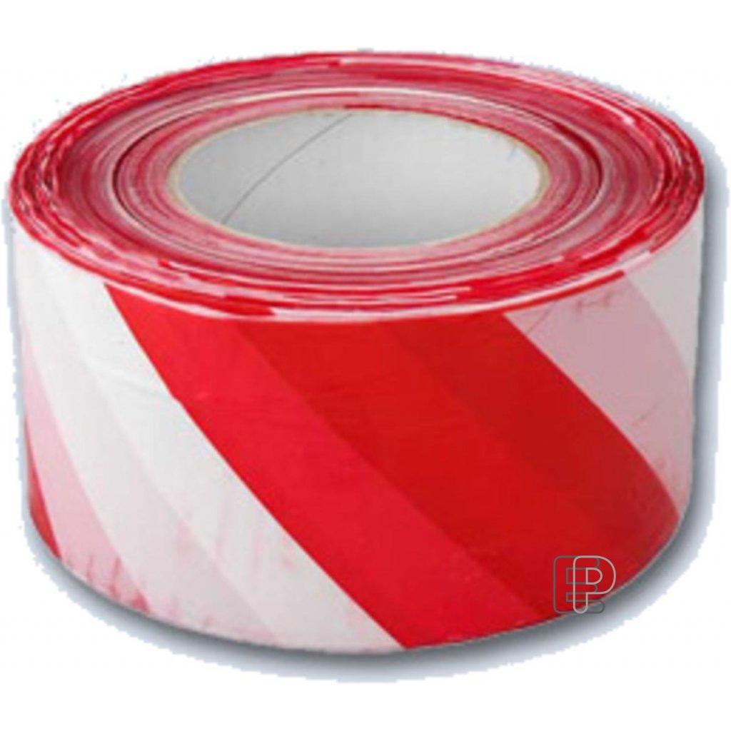Páska výstražná 80mm/200m červeno/bílá