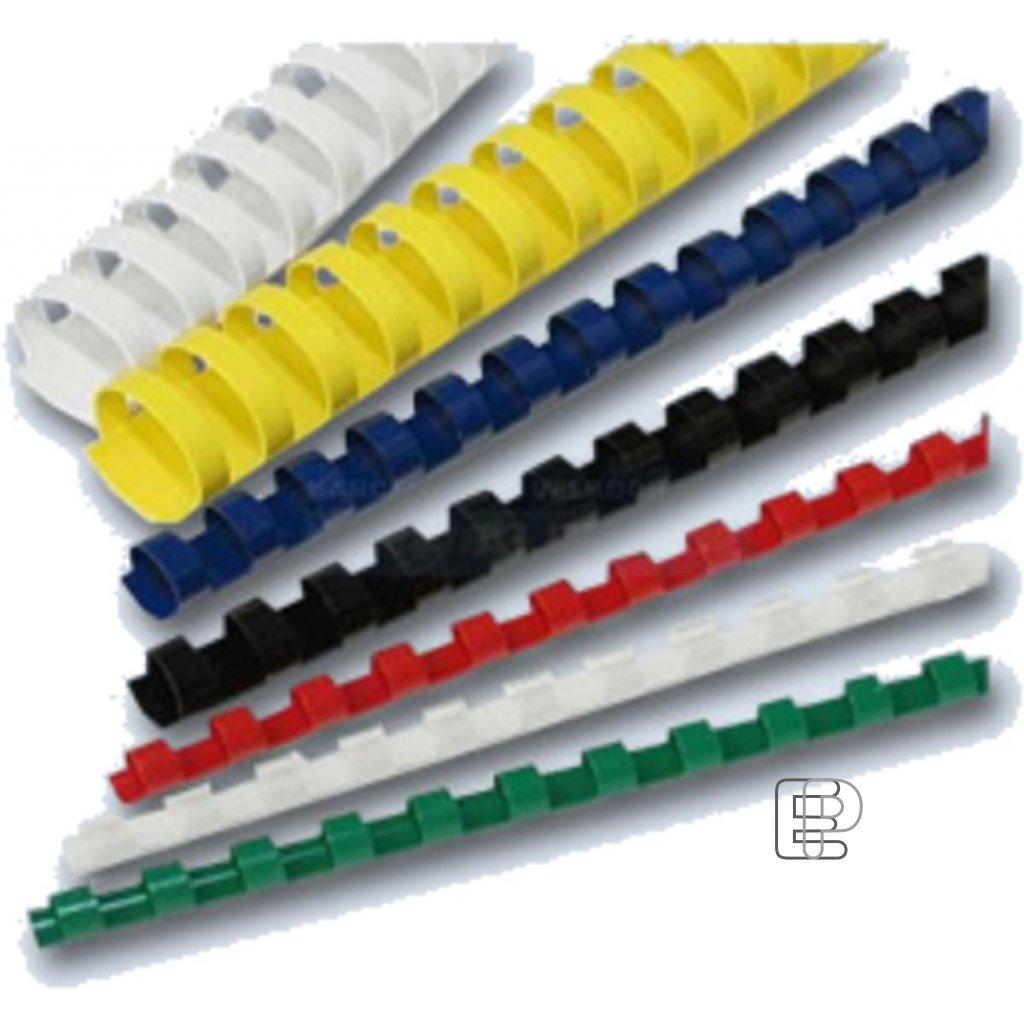 Kroužky pro vazbu 8mm černé 100ks