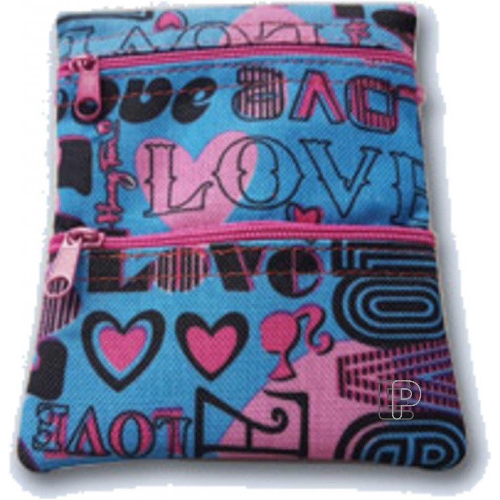 Peněženka na krk Pocket 3 motiv Love