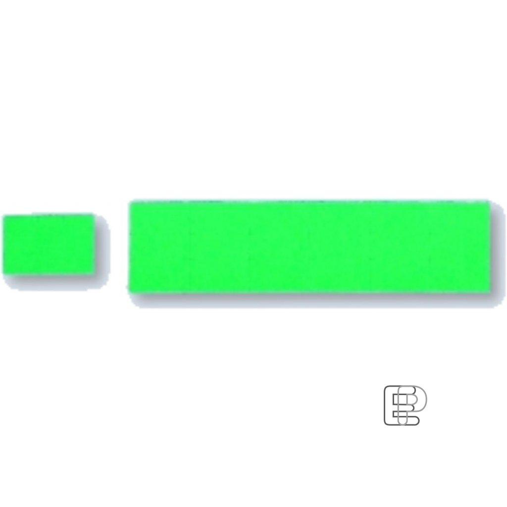 SLE Contact 25x16 zelené hranaté 1125et