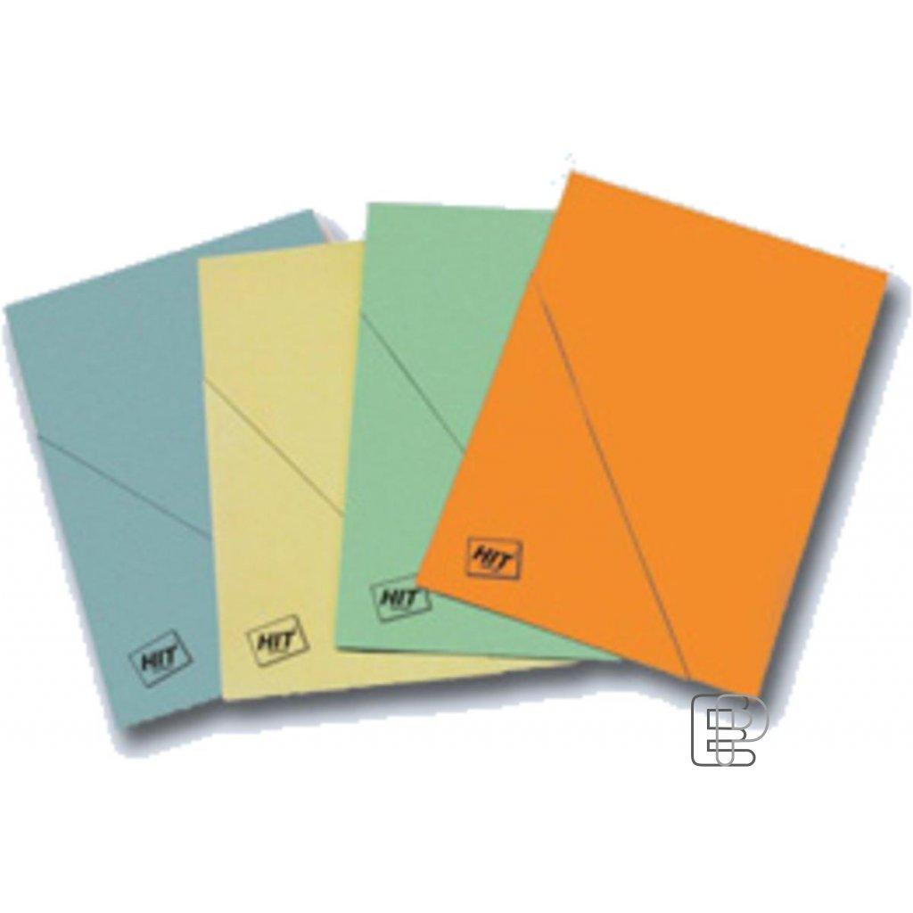 Desky papírové s rohem A4 žluté