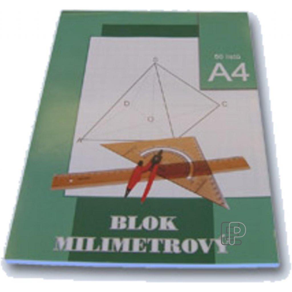 Blok A4 milimetrový papír 50listů