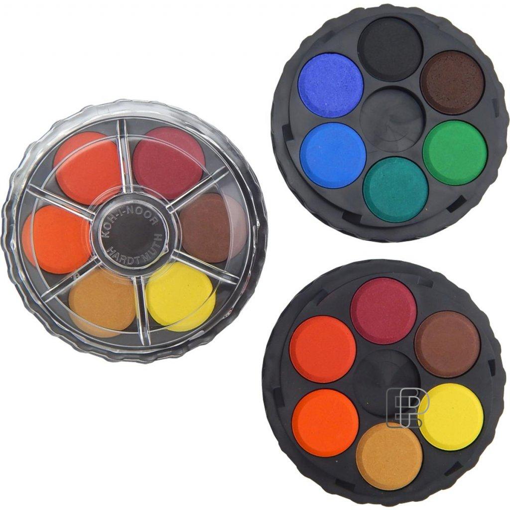 Vodovky kulaté 12 barev