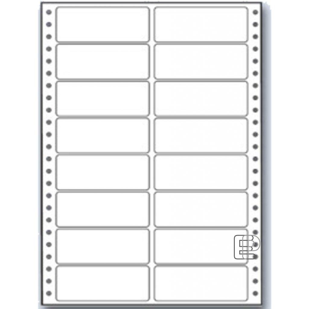 SLE 100x36. 1 2-řadé MB 400 etiket