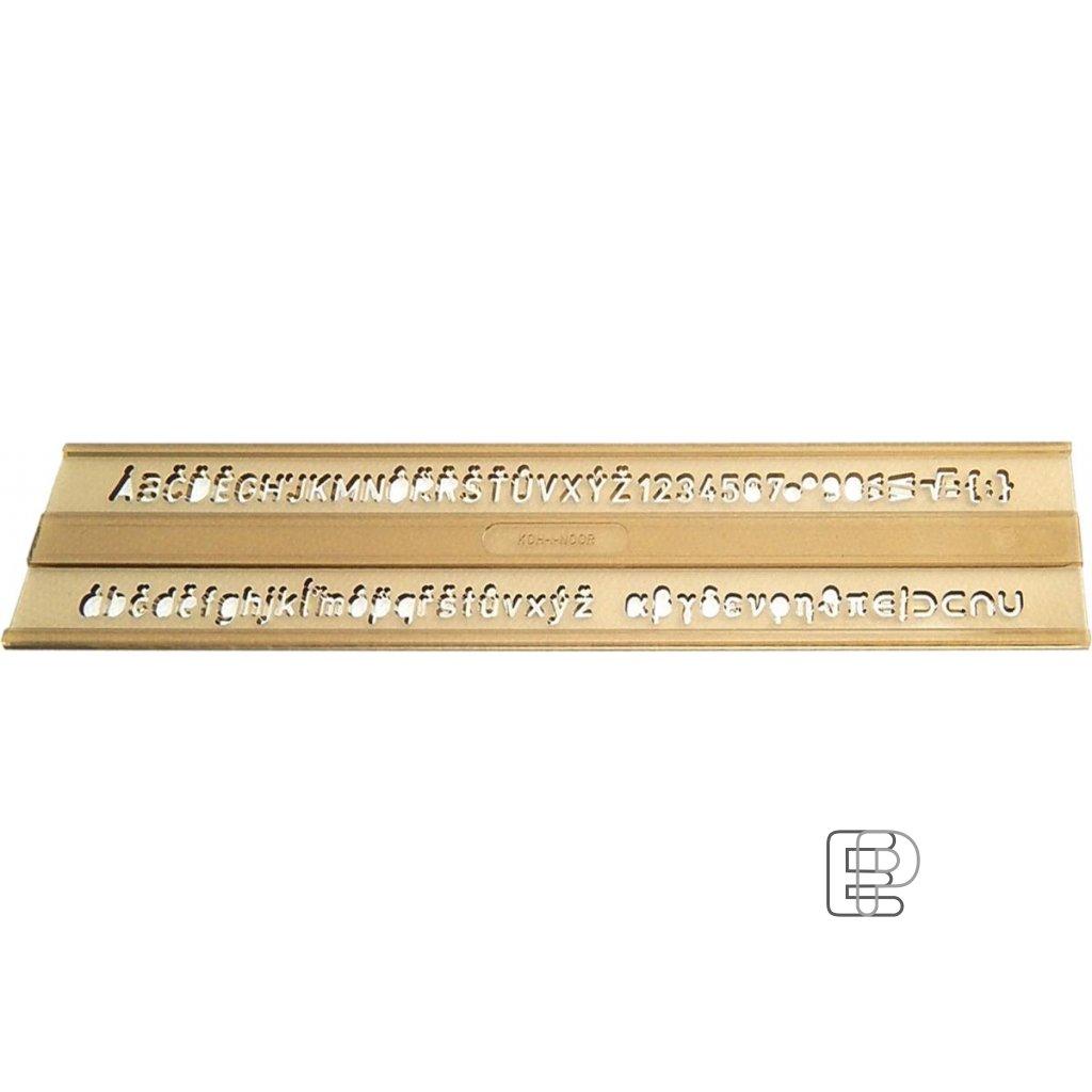 Šablona 0.5cm 748 051 typ 911 písmenka