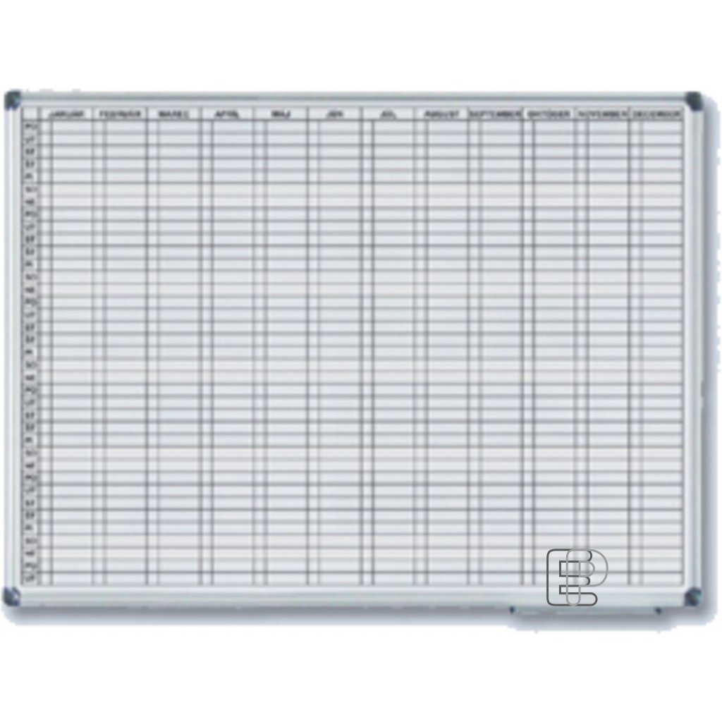 Magnetická tabule roční 90x120