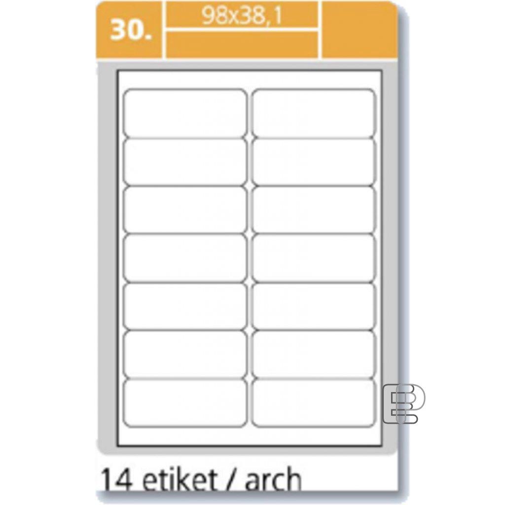 SLE Laser 98x38. 1 1400 etiket