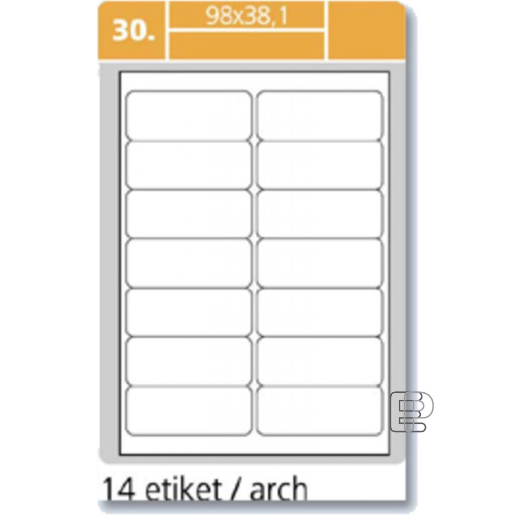 SLE Laser 98x38.1 1400 etiket