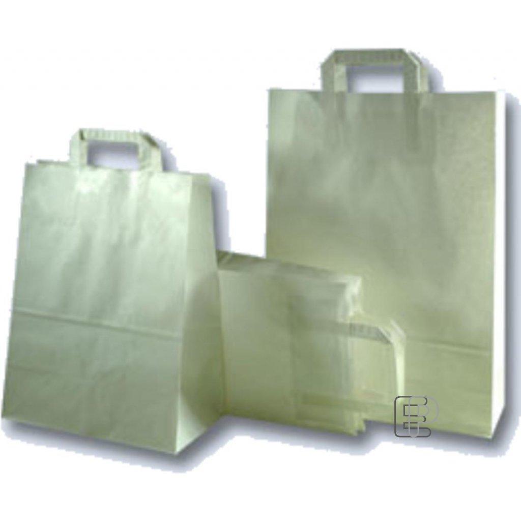 Taška papírová bílá 320x140x420