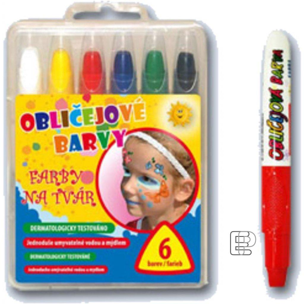 Barvy na obličej 6 barev set MFP