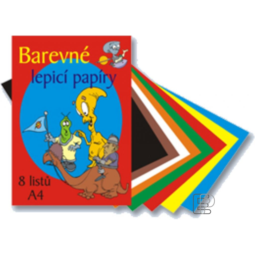 Lepící barevné papíry A4 8listů