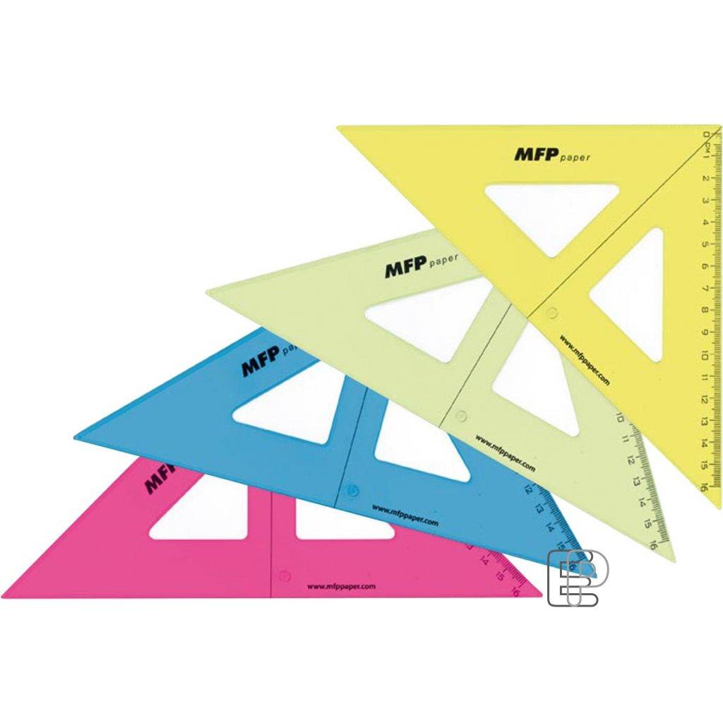 Trojúhelník 45/177 s kolmicí barevný