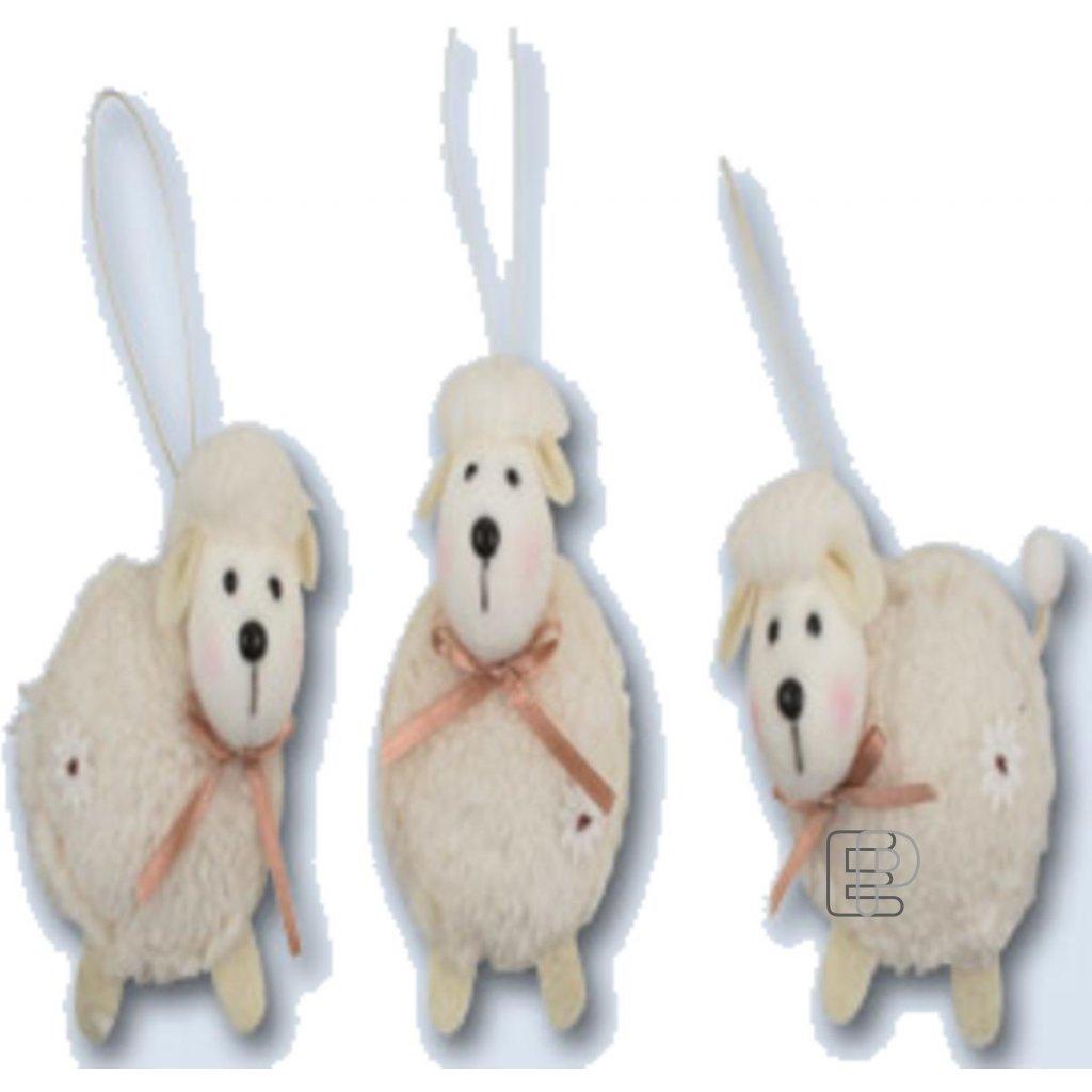 Velikonoční dekorace Ovečka bílá závěs