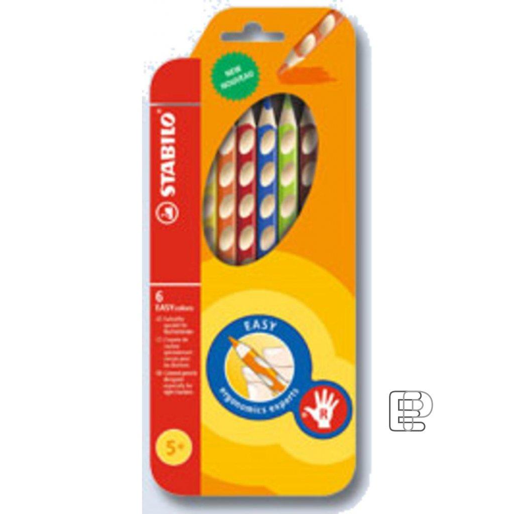 Pastelky Stabilo EASY 332/6 pro praváky